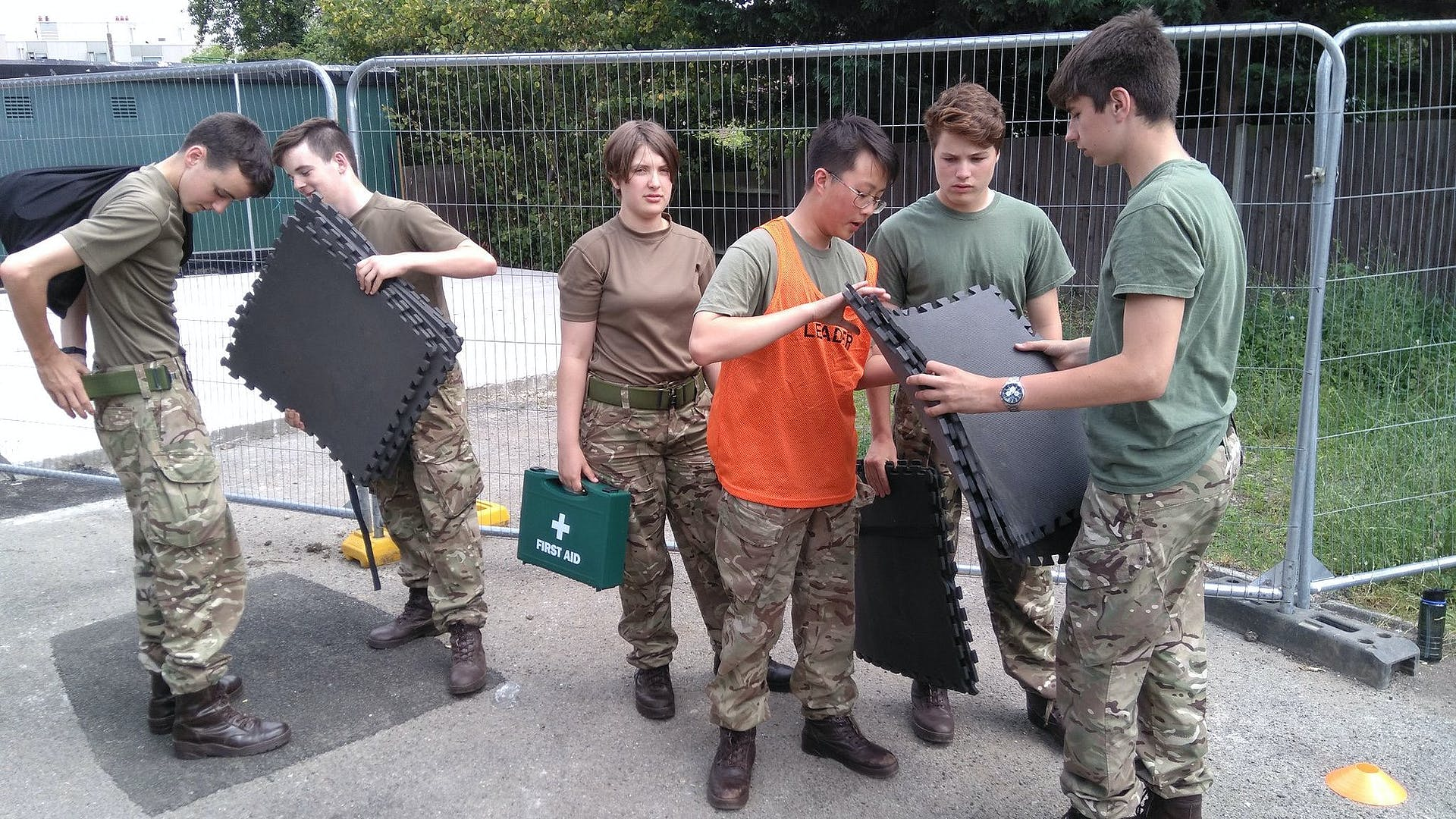 2018 07 05 Wilding Troop CVQO Young Leaders 1711 command task
