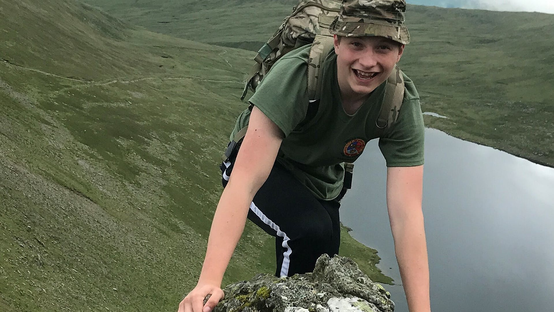 Brooke Weston Academy taken by Cadet L Cpl Ethan Mathieson showing Cadet Sgt Ethan Mathieson adventure training summer camp Helvellyn Army section 2