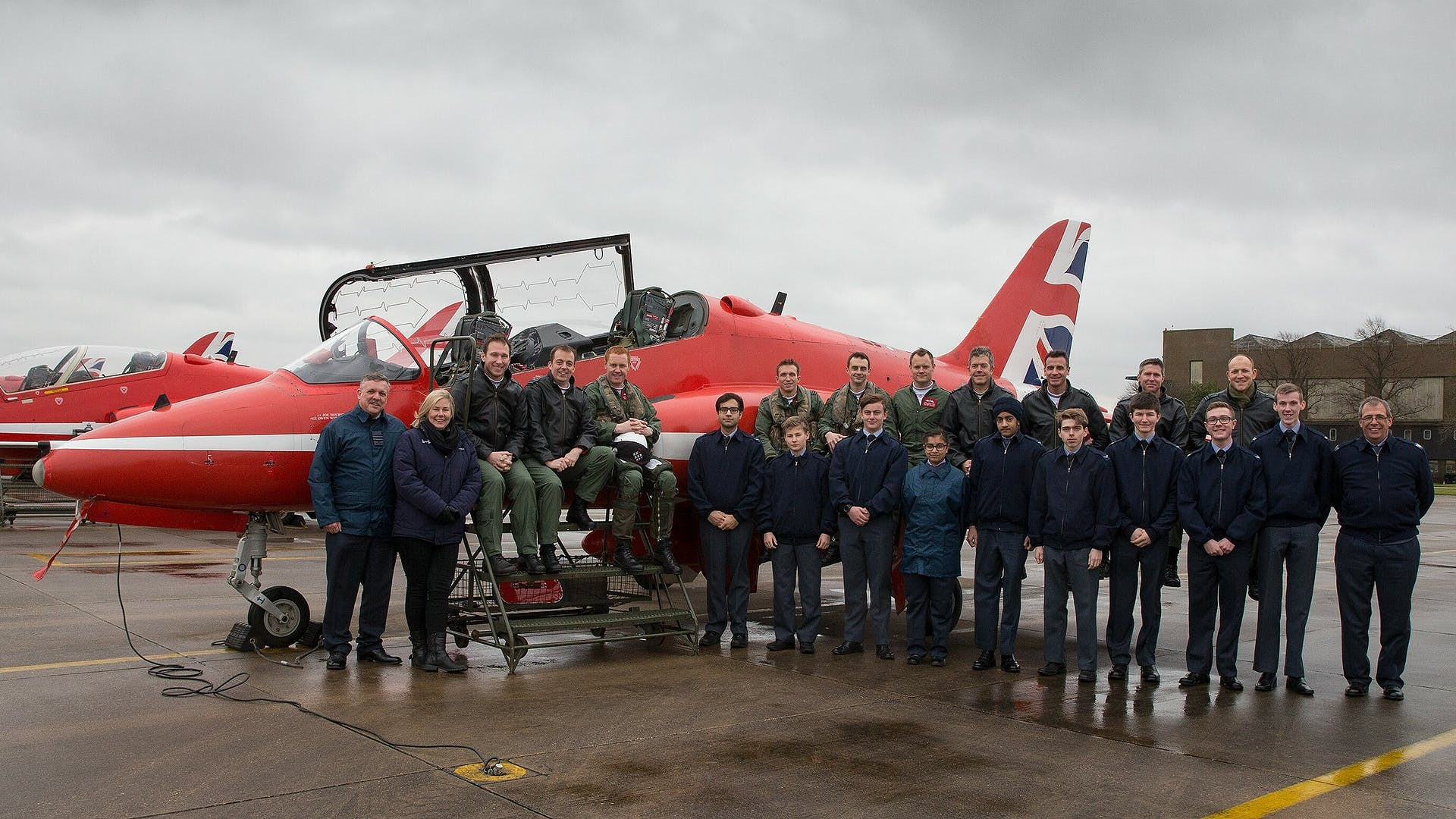 Cadets and Red Arrows 1