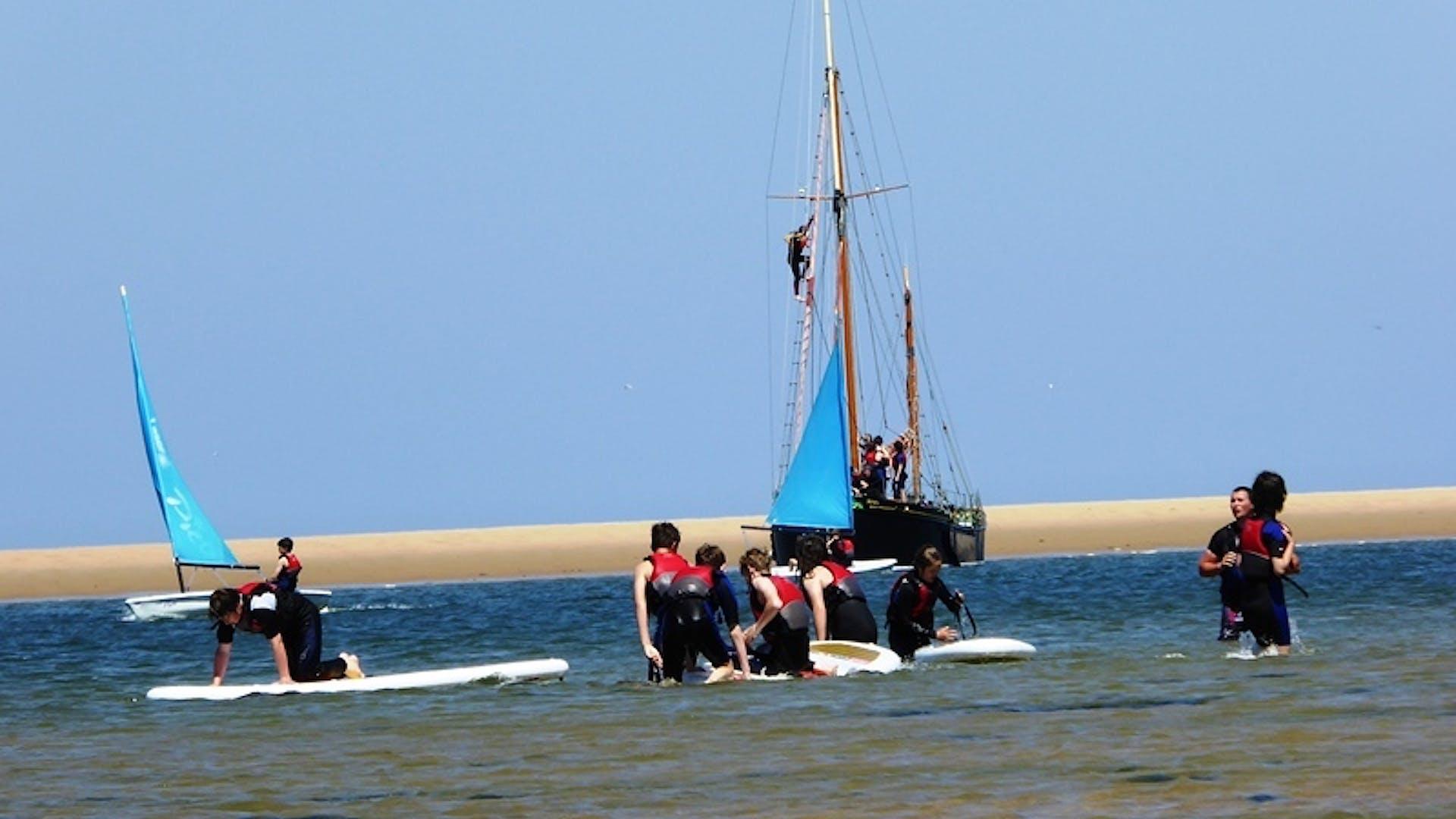Capt C Scoles SSI 1 Taken at Blakeney Pit North Norfolk during RN camp caption A life on the Ocean waves 1