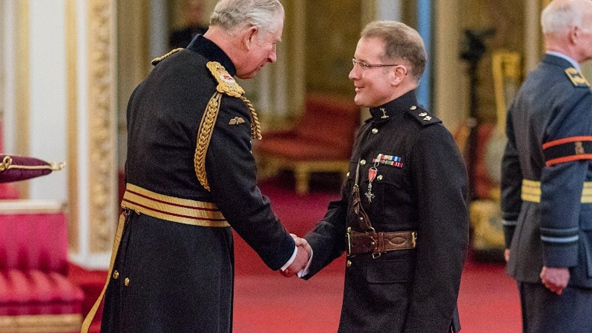 Col Anthony Lamb awarded MBE 1