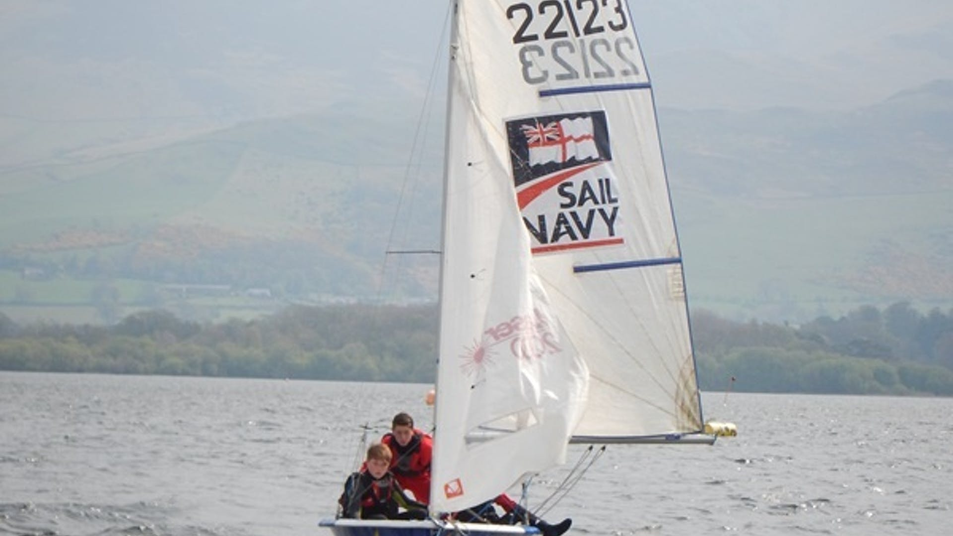 Myles Ripley Sedbergh School sailing at Killington reservoir 1