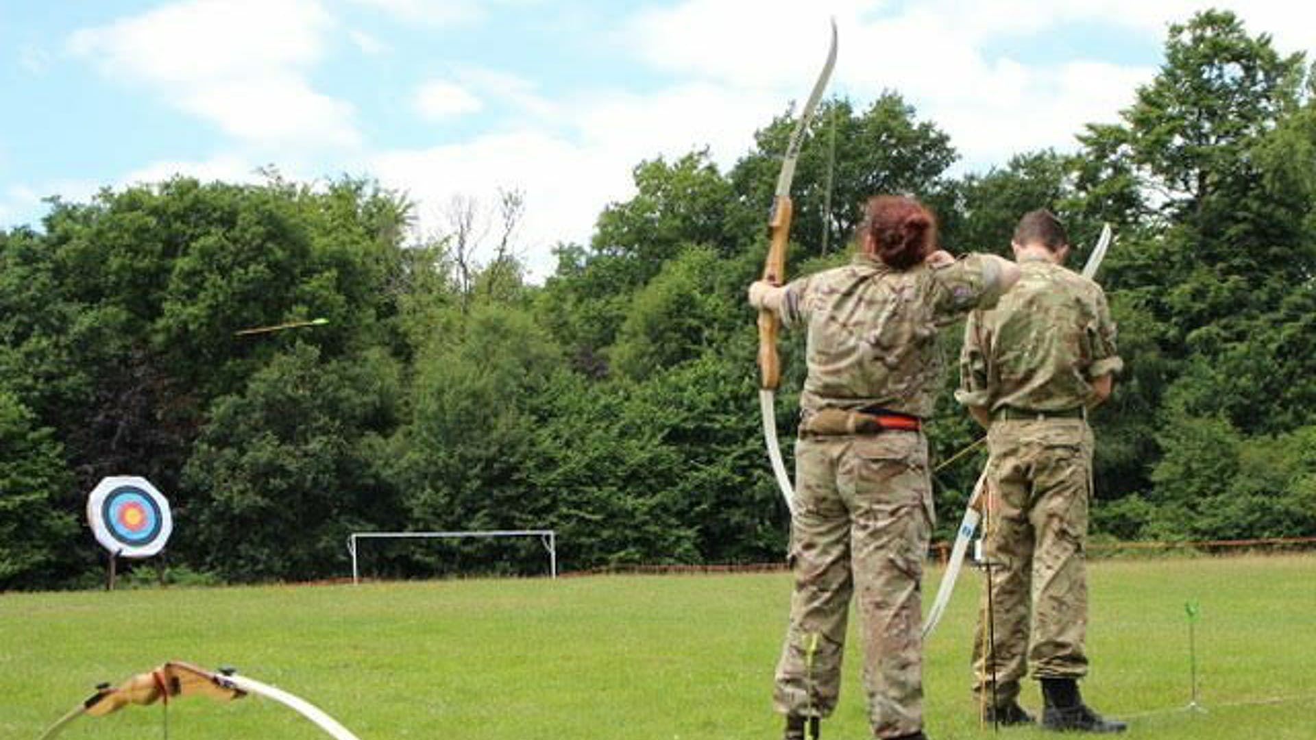 Priory Academy LSST L Cpl Owen Frances 2 taken at Crowborough Training Camp an action shot of CFAV 2 Lt Gemma Anthony 1