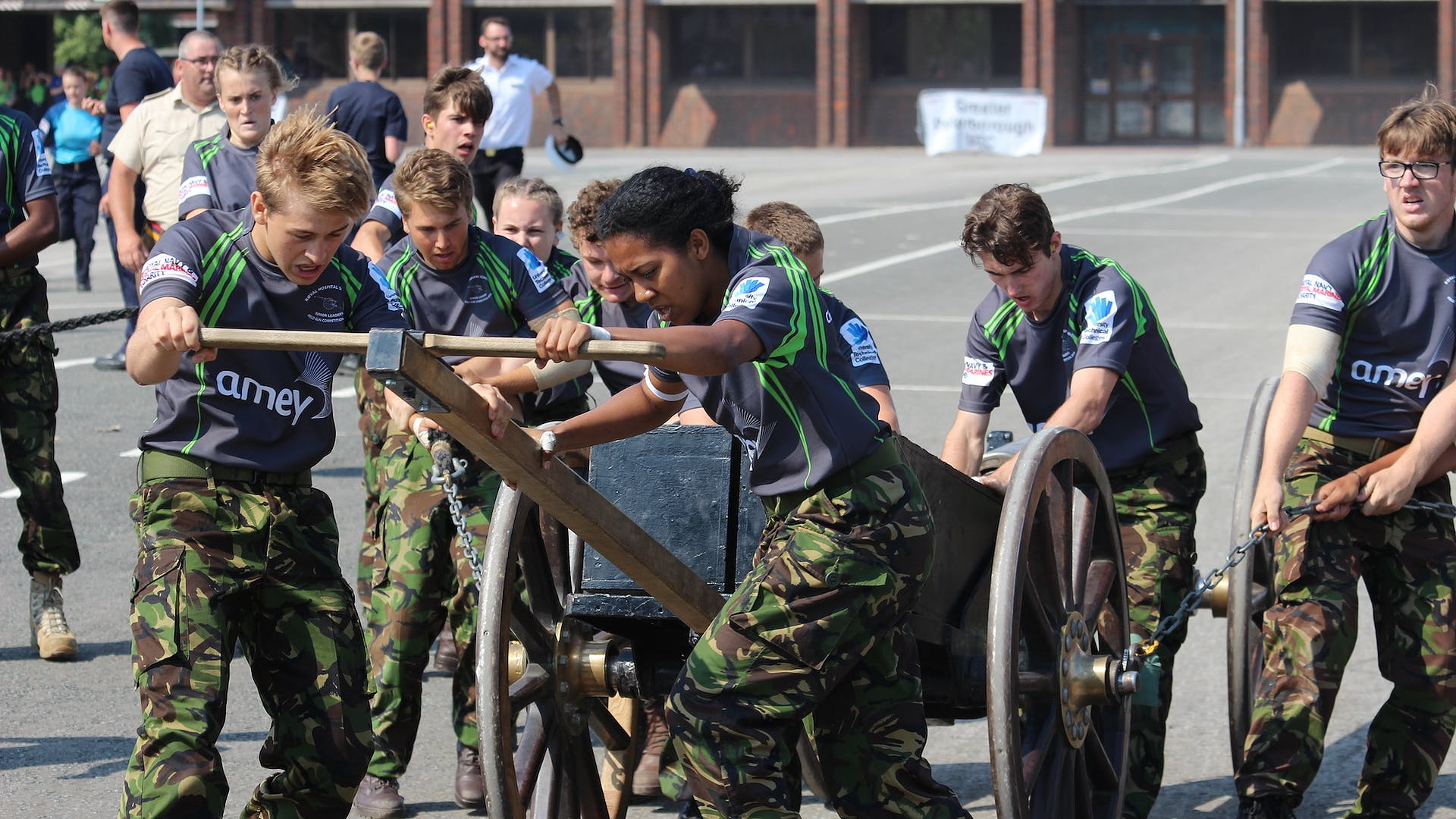 The Royal Hospital School competing in Royal Navy Field Gun competition 2